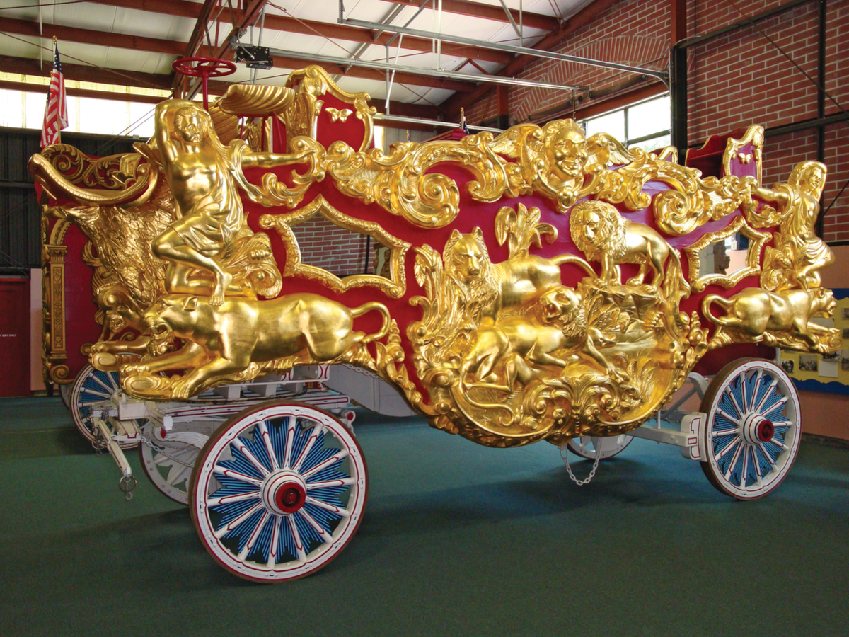 Ringling Brothers Lion Tableau Wagon