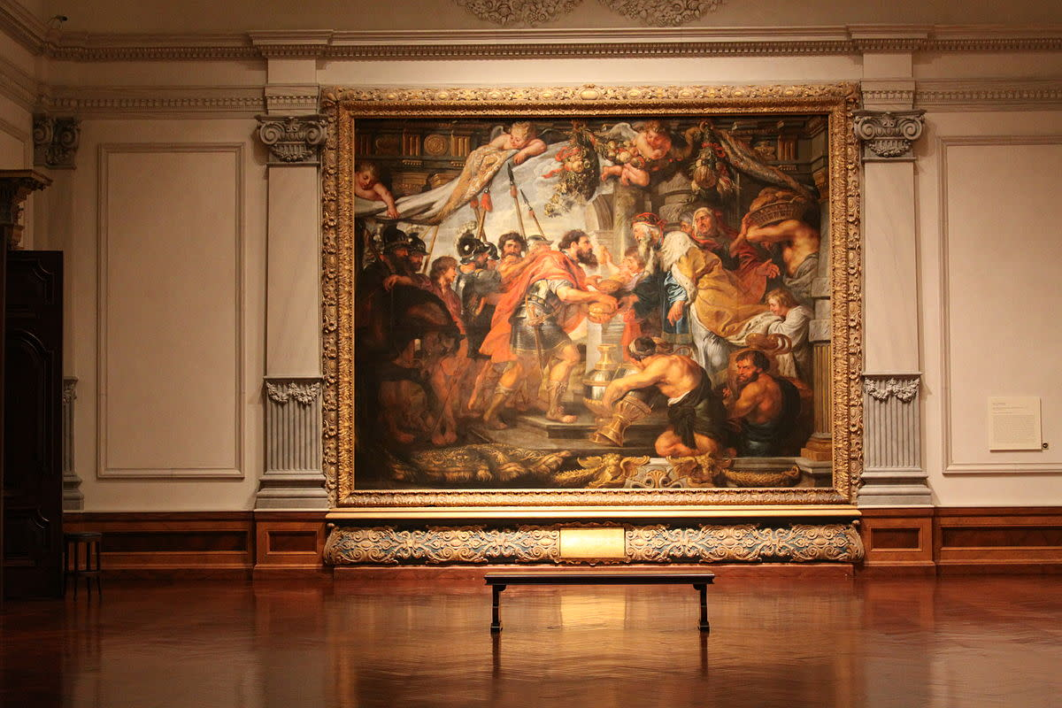 The Meeting of Abraham and Melchizedek, Circa 1625 in the Rubens Gallery inside the John and Mable Ringling Museum of Art, Sarasota