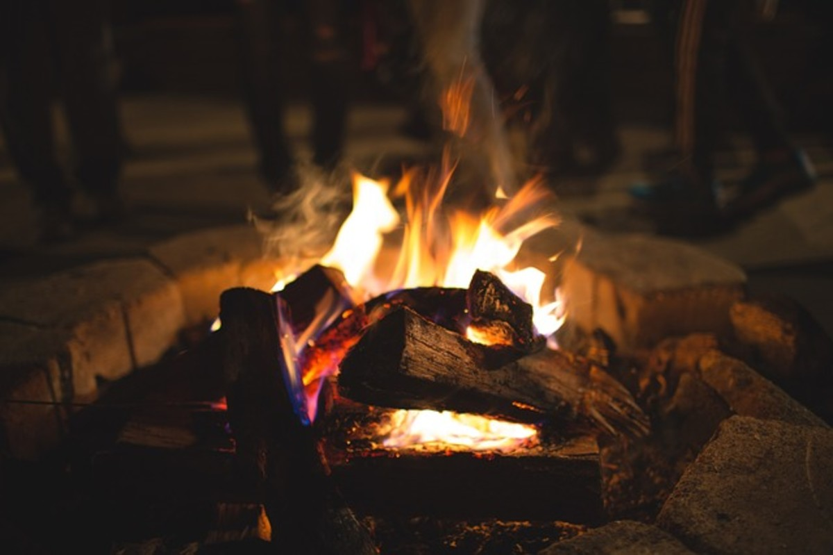 A bonfire is a great way to enjoy the beach at night with some hot chocolate, s'mores, and friends.