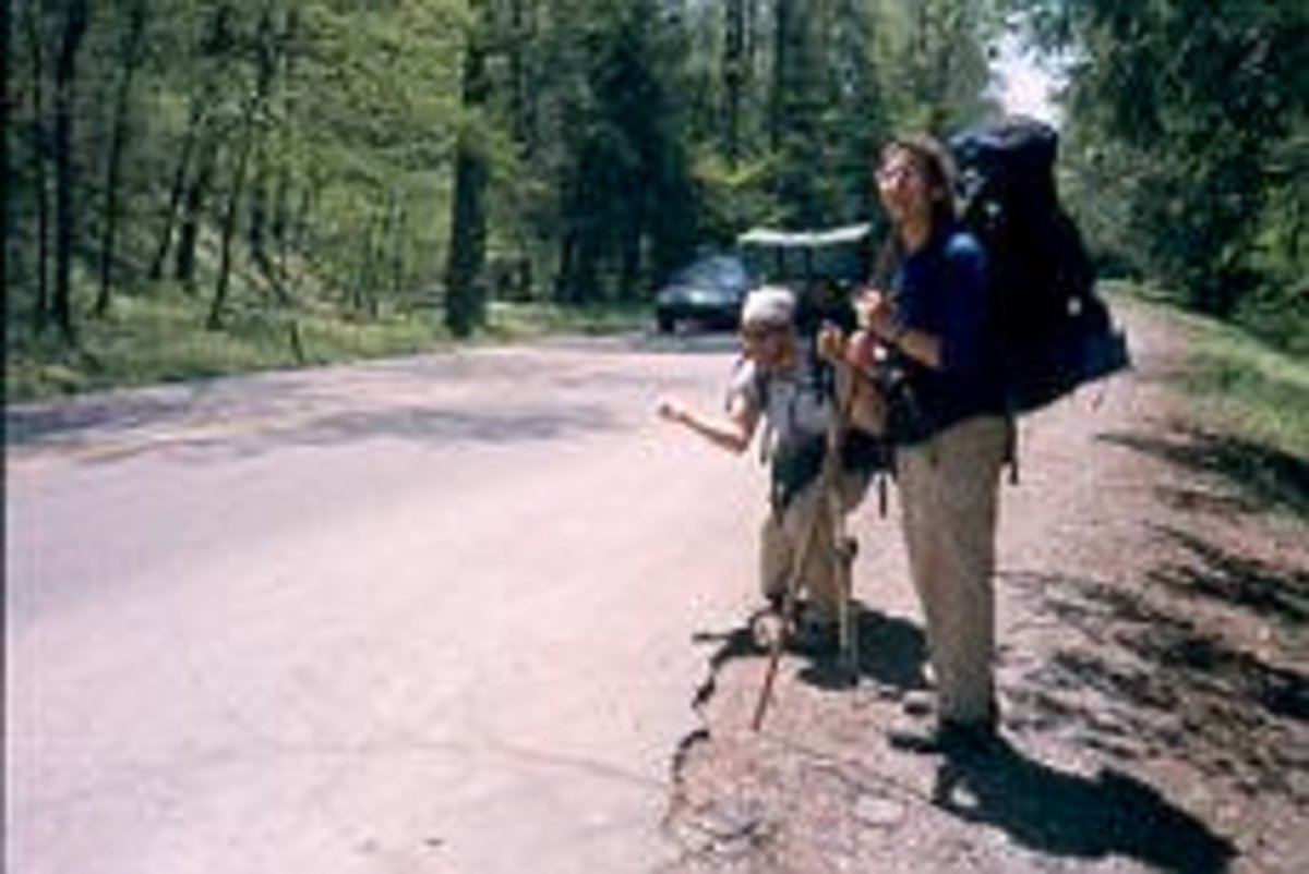 Hitchhiking the Appalachian Trail.