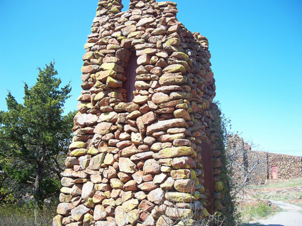 Oklahoma's Jerusalem: The Holy City of the Wichitas: A guardhouse on the outskirts of the Holy City of the Wichitas.