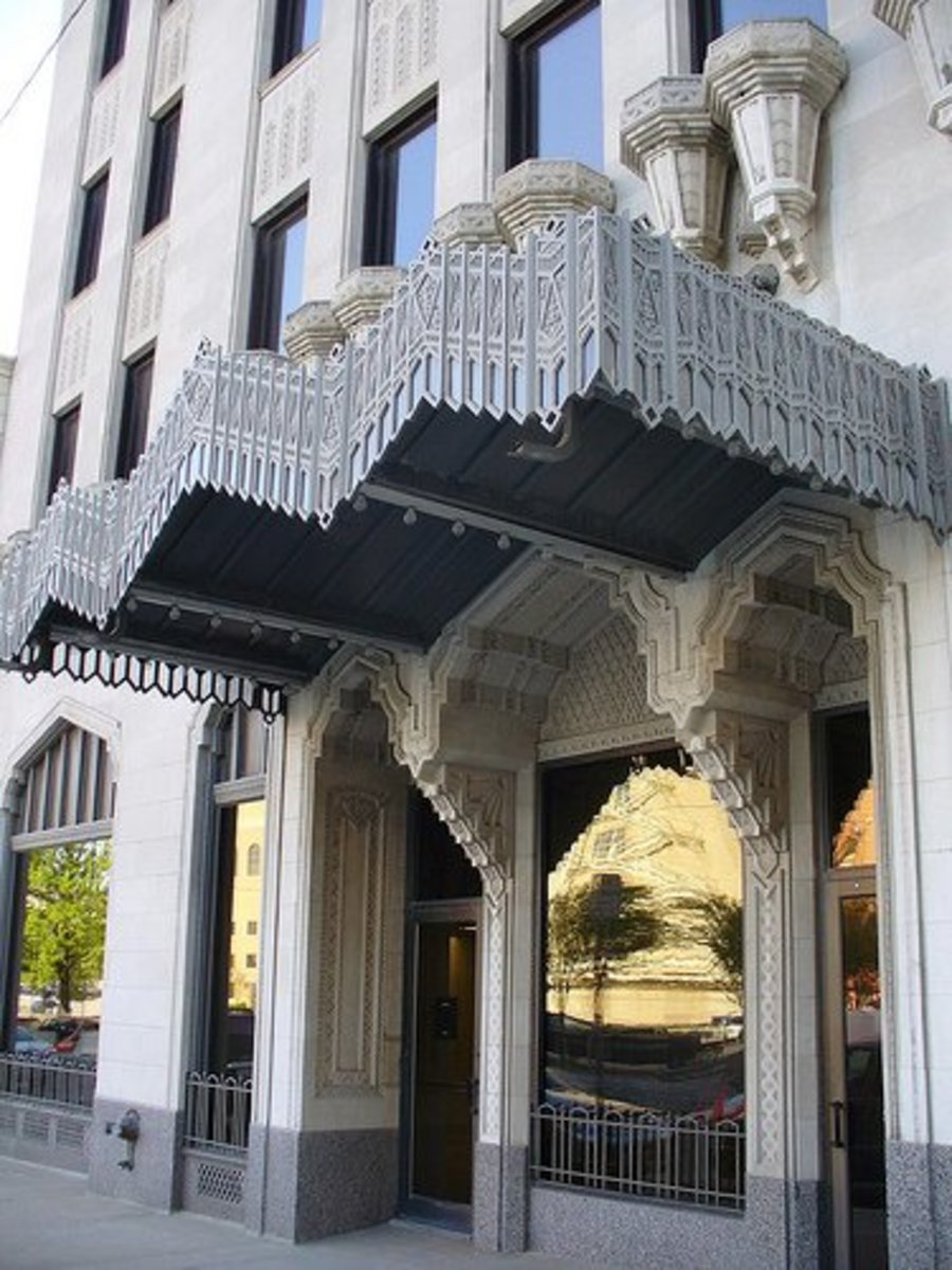 The P.S.O. Building, Downtown Tulsa - Zigzag Art Deco Style architecture