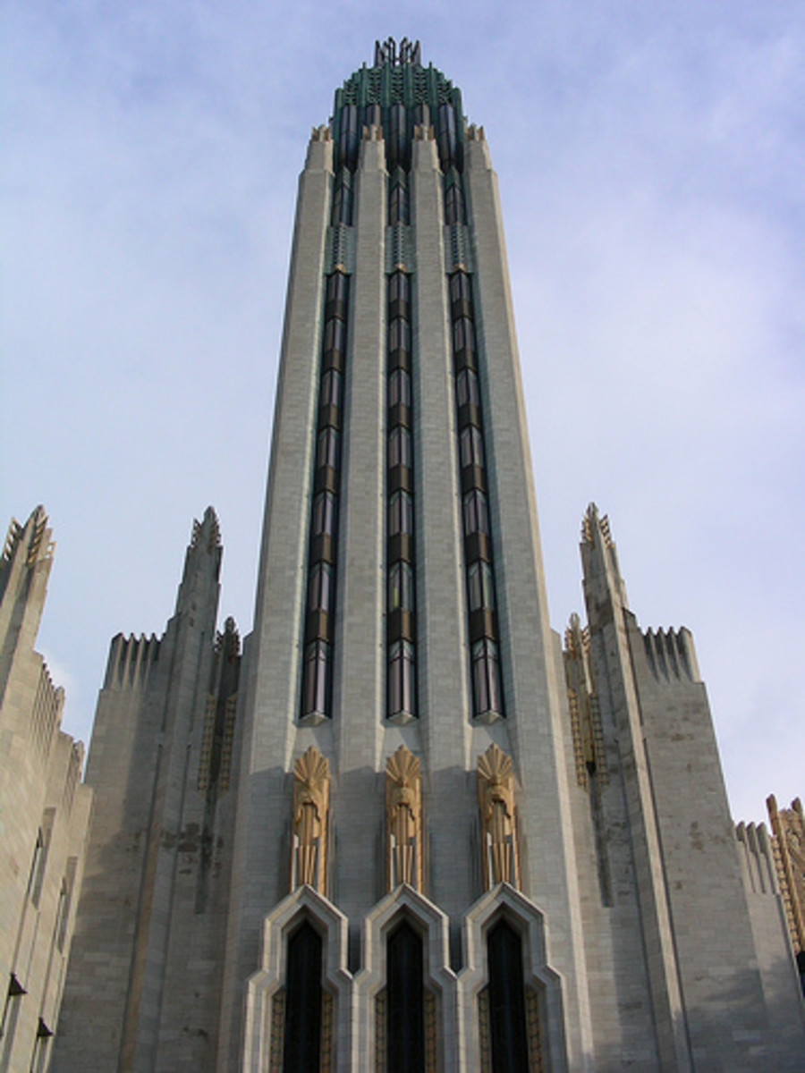 Boston Avenue United Methodist Church.  Again, another excellent example of the Zigzag Art Deco architectural style.