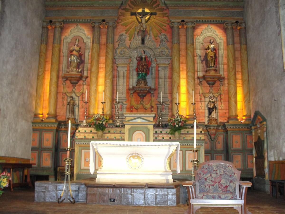 The church altar area
