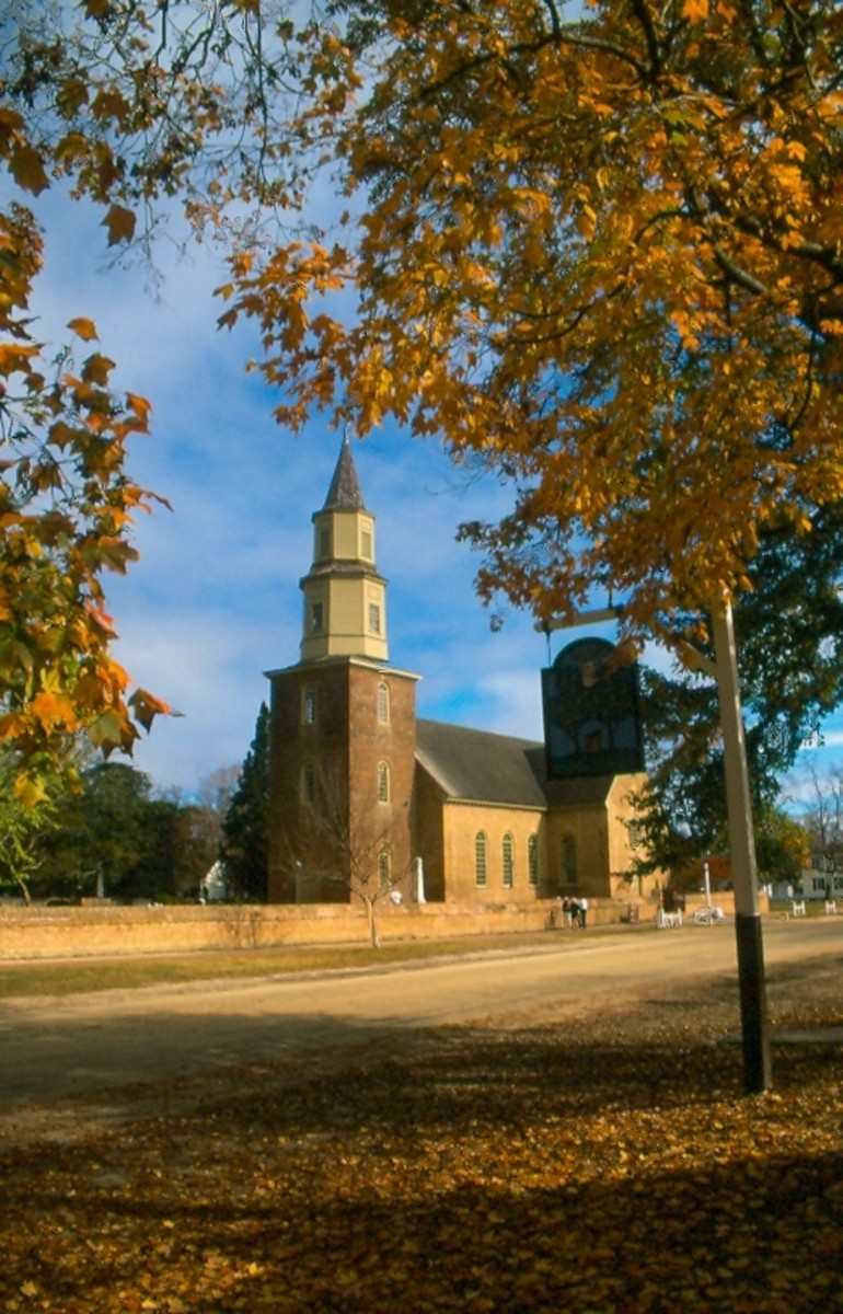 Bruton Parish Church, c. 1711, Williamsburg, Virginia.