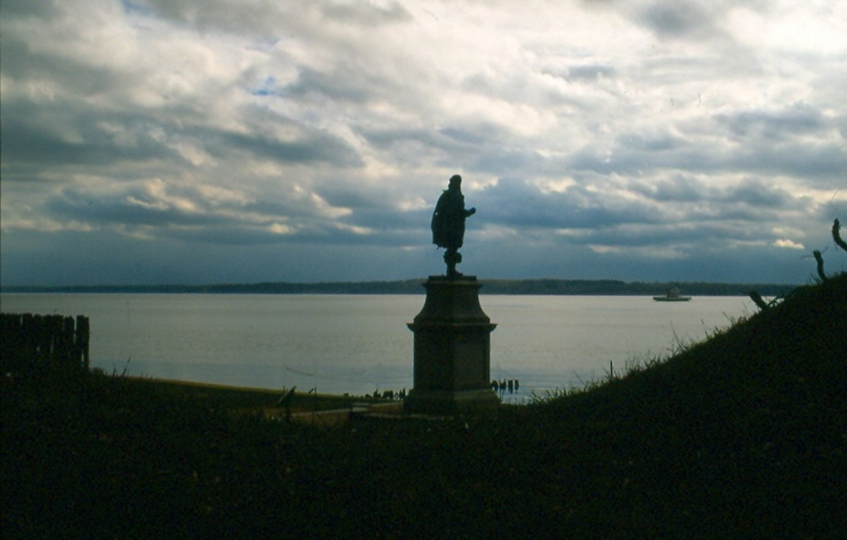 Captain Smith Monument, Jamestown Island, Virginia.
