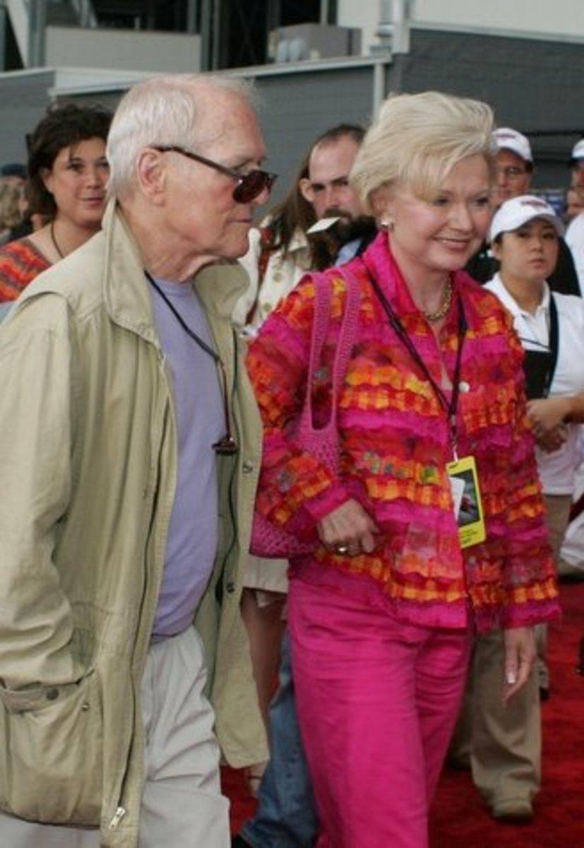 Paul Newman and wife, Joanne Woodward.