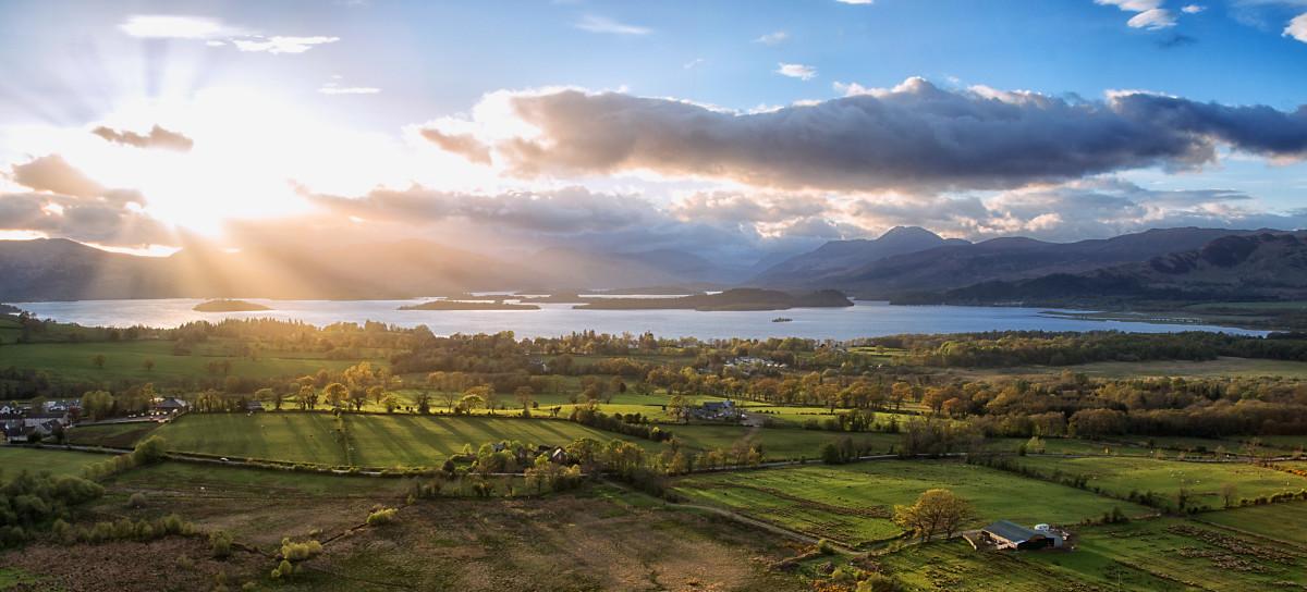 Sunfall Over Loch Lomond
