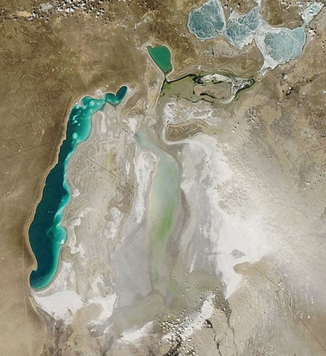 Satellite Image of the Shrinking Aral Sea
