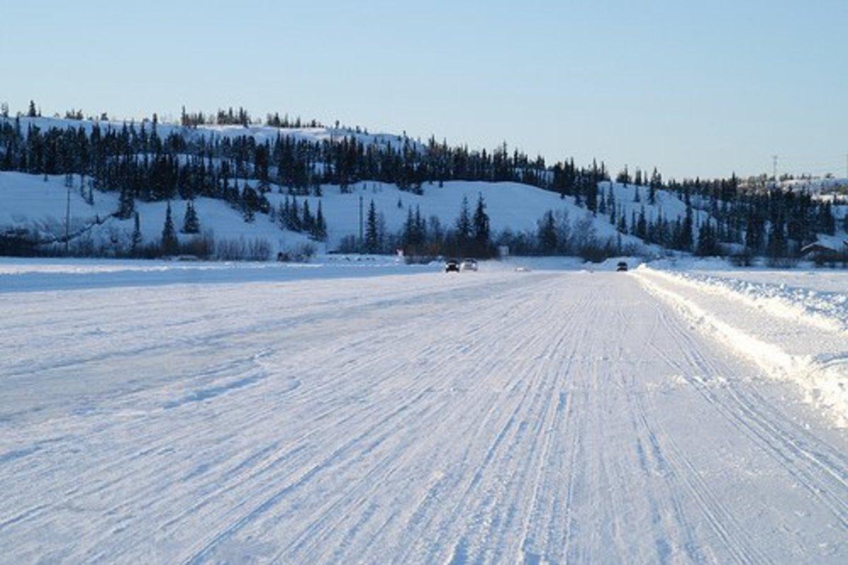Frozen Great Slave Lake
