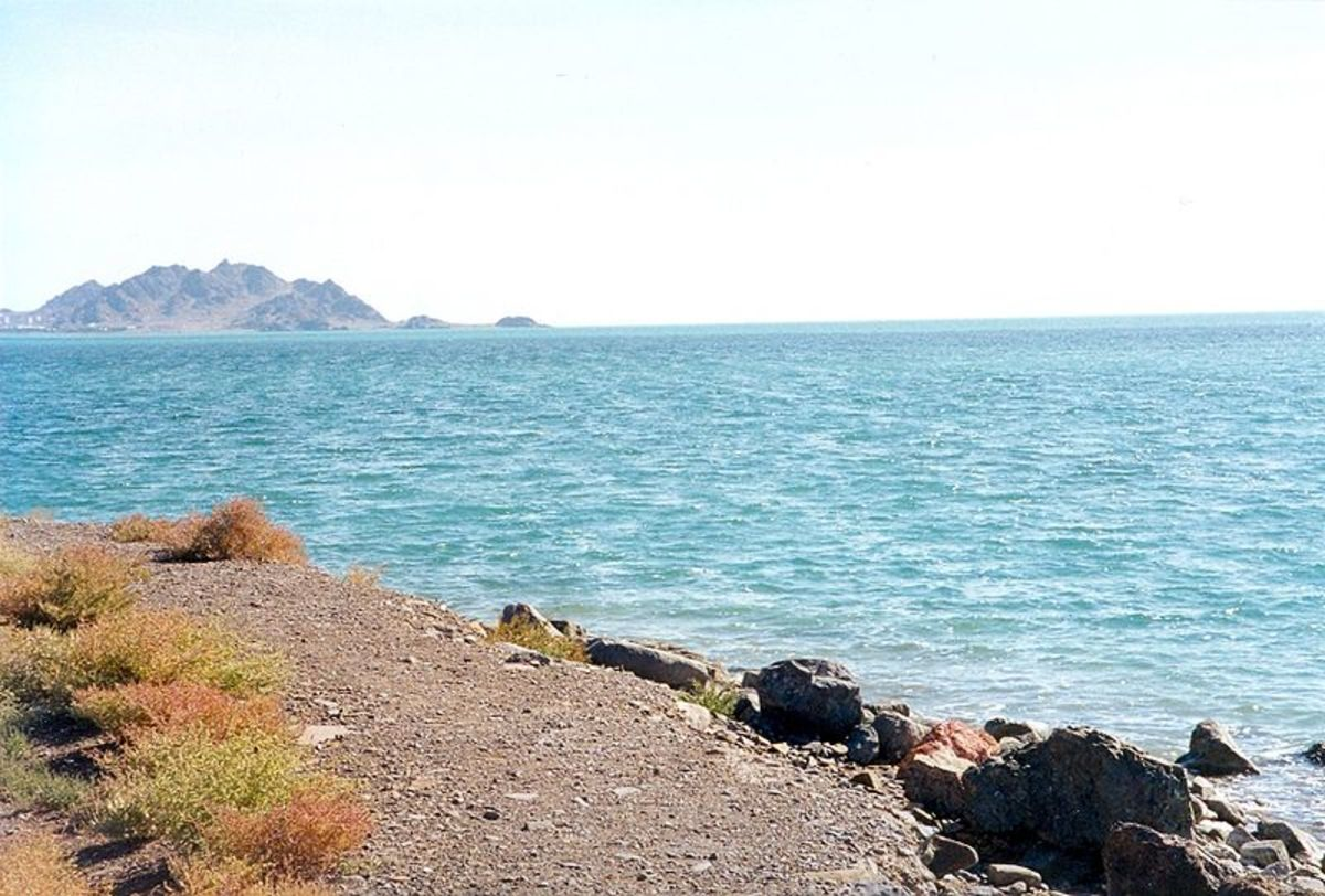 Caspian Sea shore in, Turkmenistan