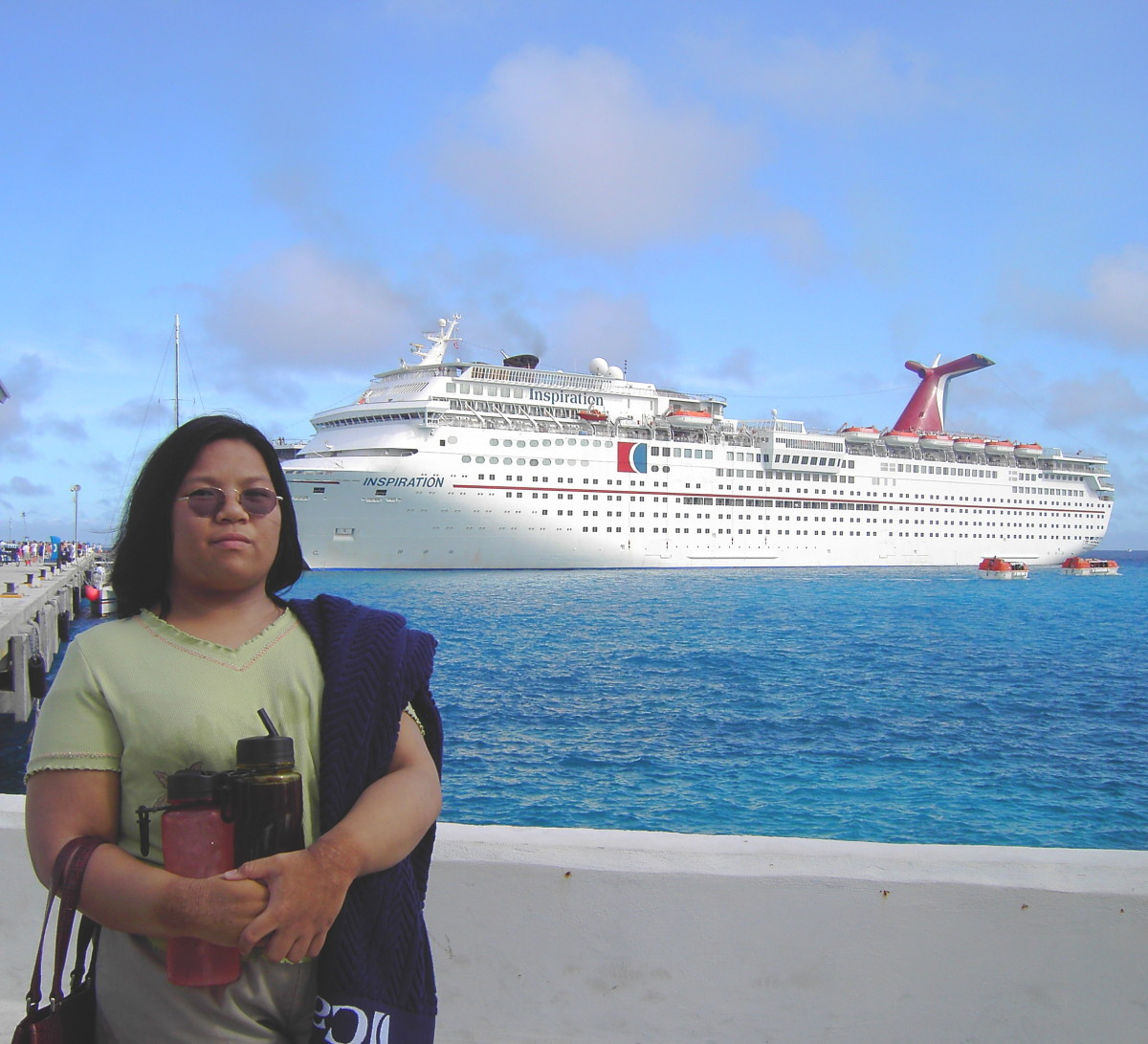 Me, in Roatan, Honduras, in May, 2010