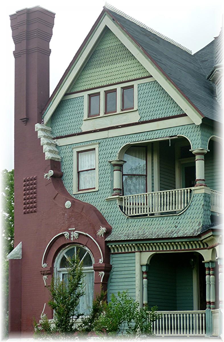 Look at that interesting chimney on The Parish House B & B