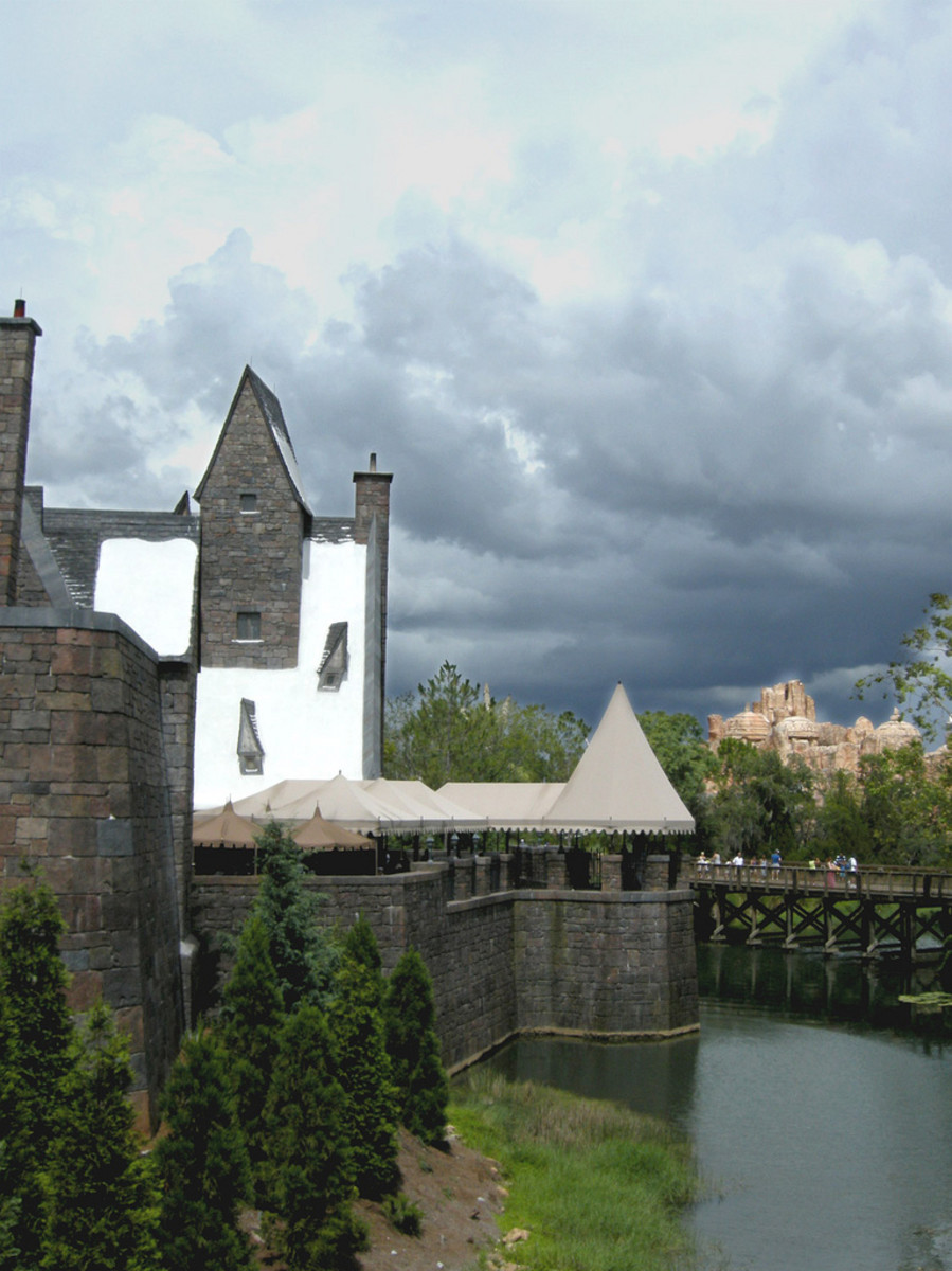 Hogwarts village at Harry Potter's Wizarding World