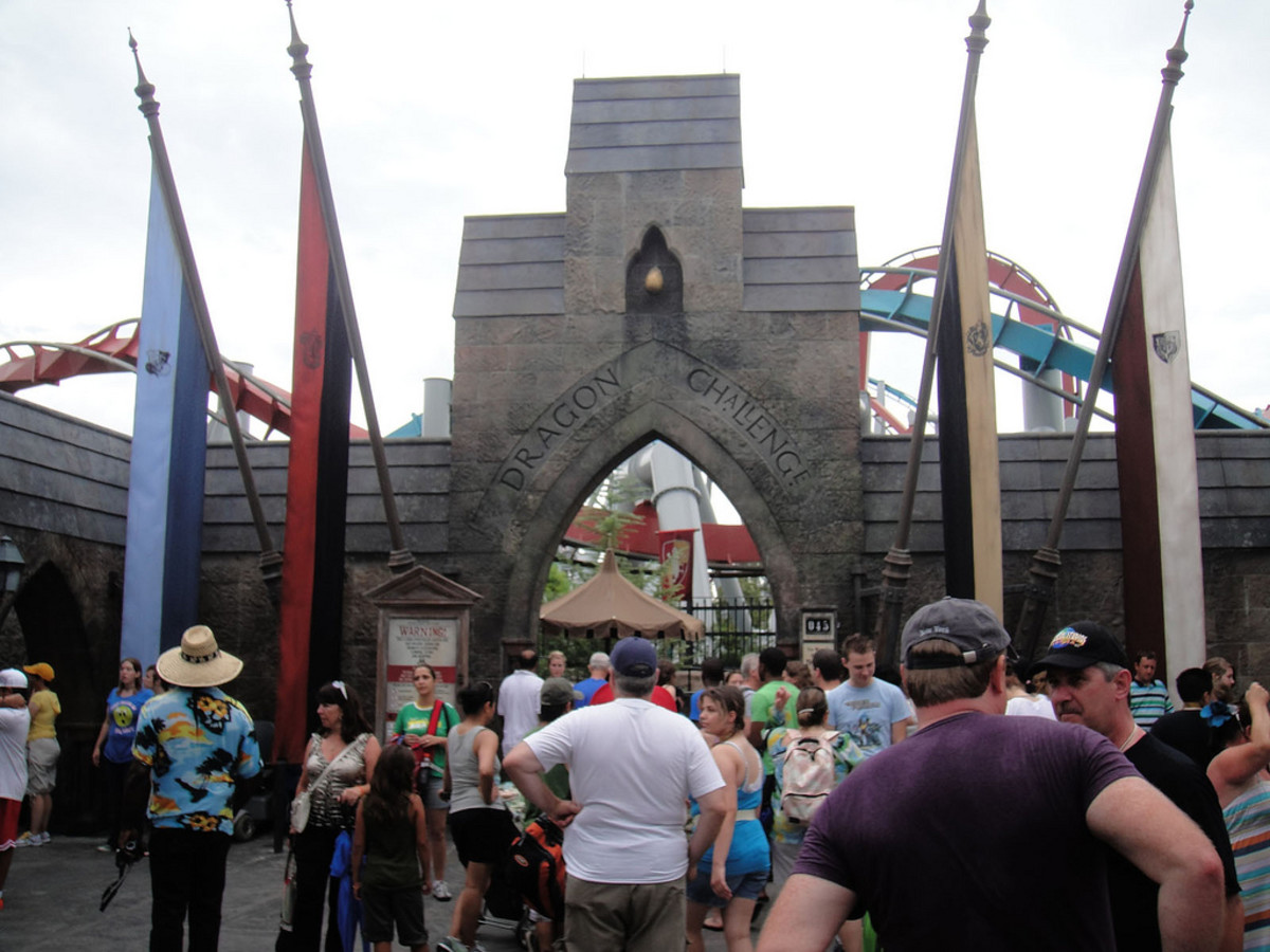 Take place in a Tri-Wizard Tournament at the Harry Potter Theme Park