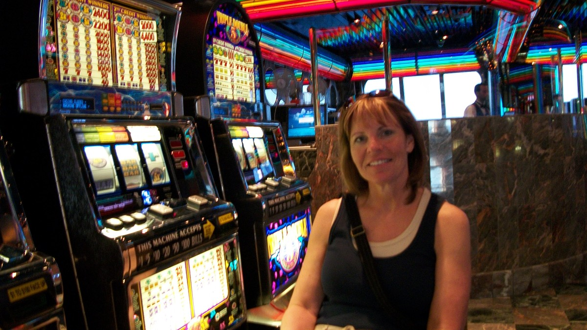My sister at the Casino