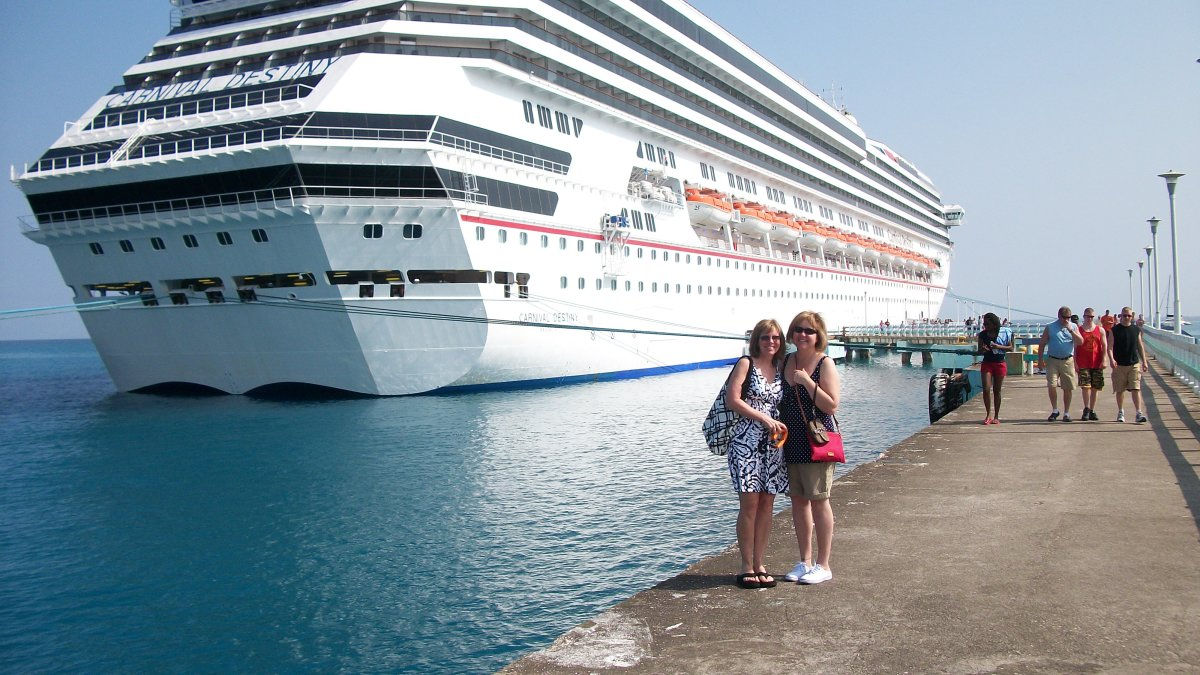 Carnival Destiny docked in Ocho Rios.