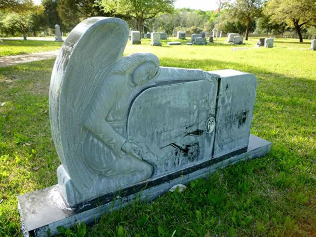 This monument is in the newer part of the cemetery.