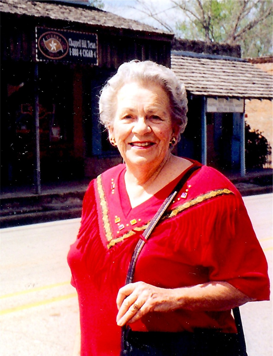 My mother in Chappell Hill, TX a few years ago