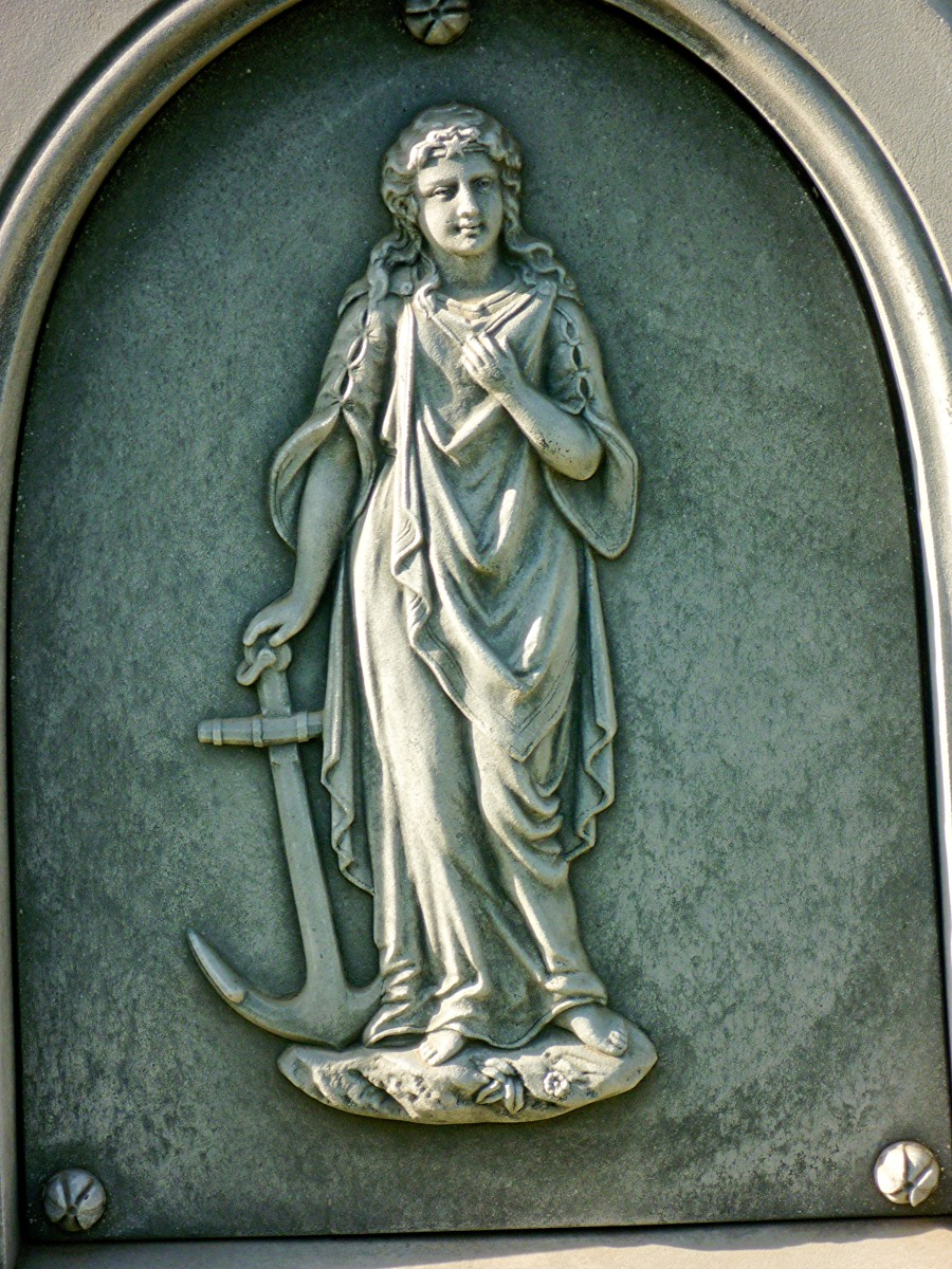 Detail on monument in Masonic cemetery in Chappell Hill, TX