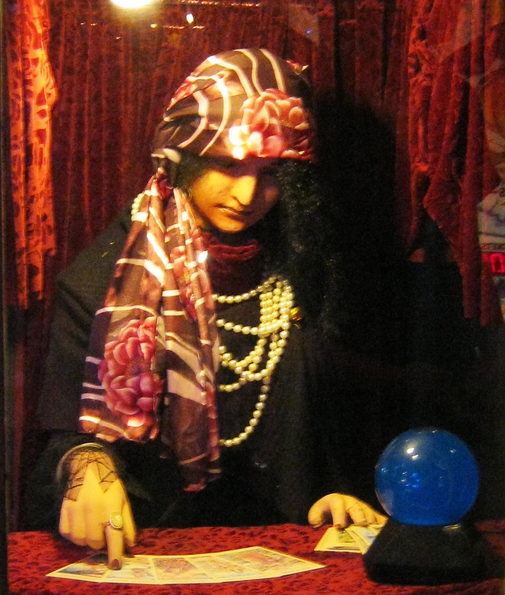 Marty's Playland - an old automated fortune teller
