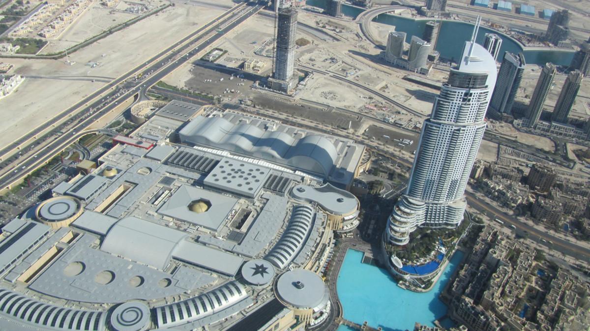 View from the Burj Kahlifa in Dubai