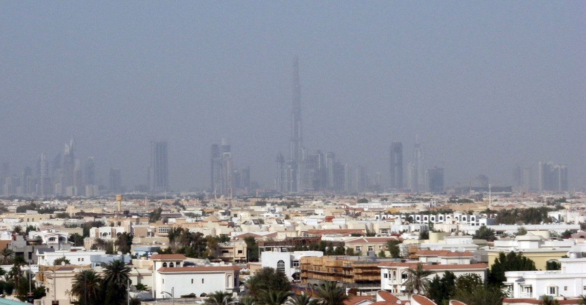 The Dubai skyline boasts the tallest building in the world