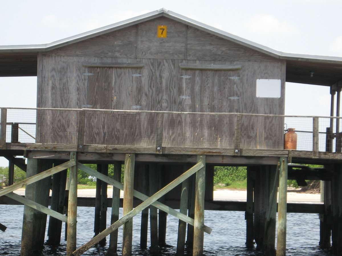 The stilt fishing lodges provide great flats fishing.
