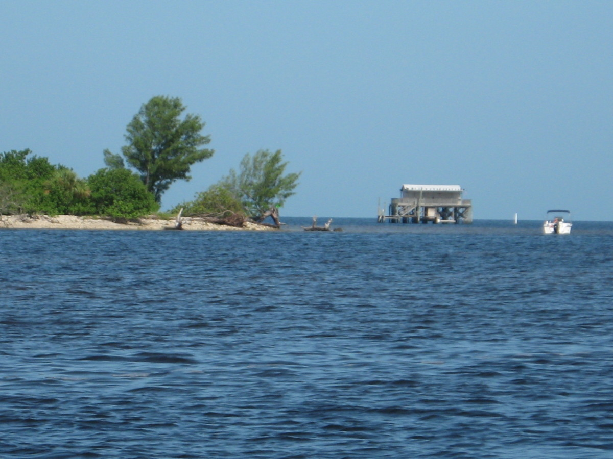 One of the stilt house fishing lodges, near Durney Key.