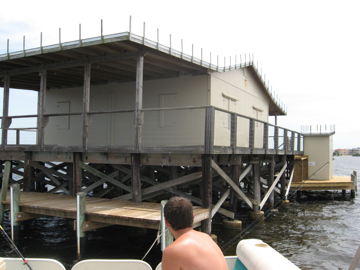 While flats fishing, we fished around the stilt houses.