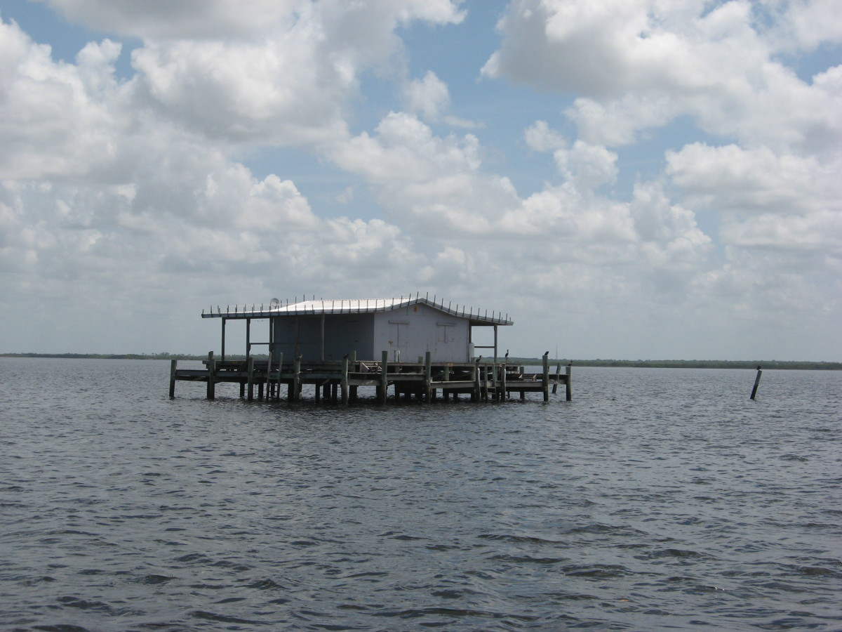 A stilt house on the Florida flats.
