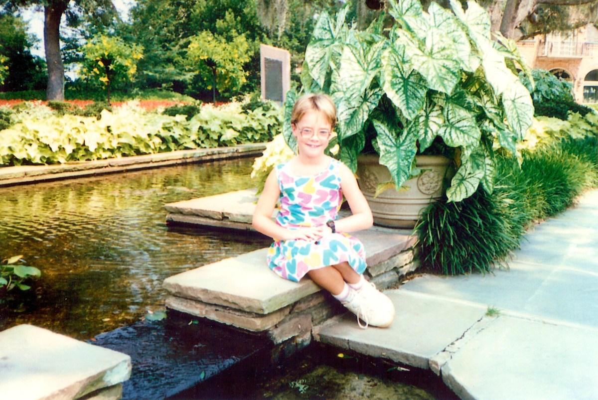My niece at Bellingrath Gardens