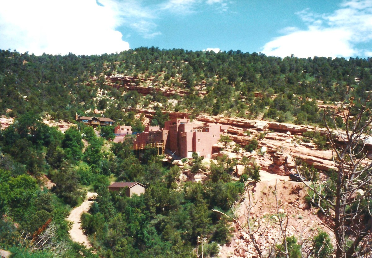View looking towards the Manitou Cliff Dwellings and Museum
