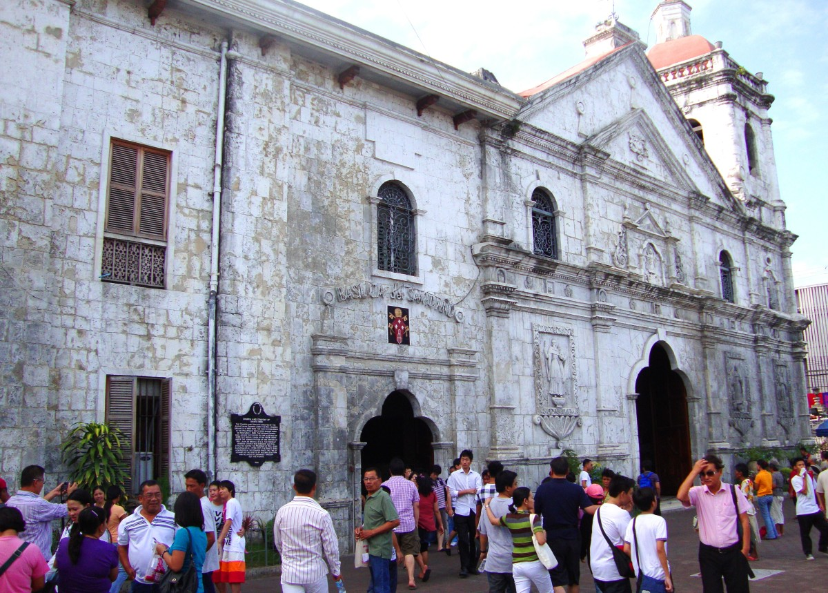 Outside the Basilica Del Santo Niño in Cebu City.
