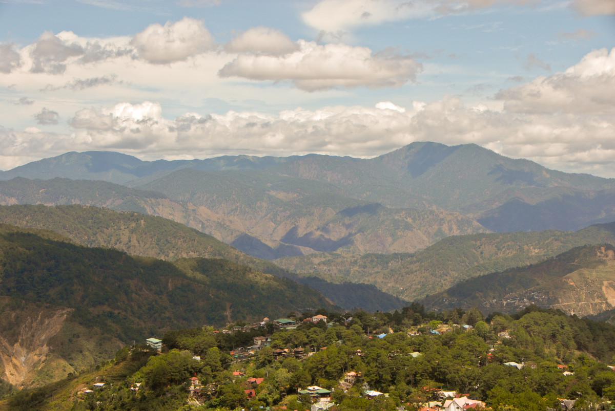 The breathtaking landscape of Baguio City.