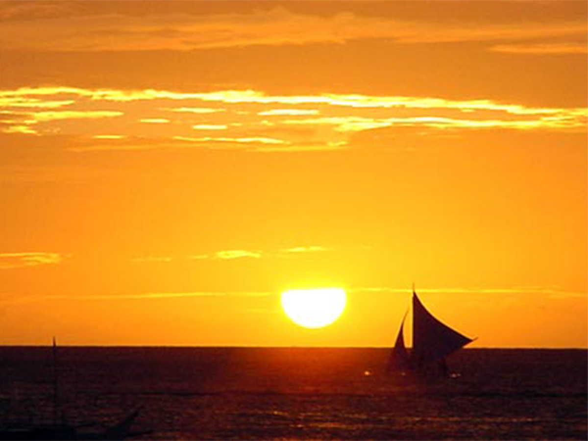 A sunset in Boracay.