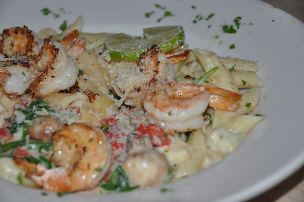 Penne Pasta with Shrimp