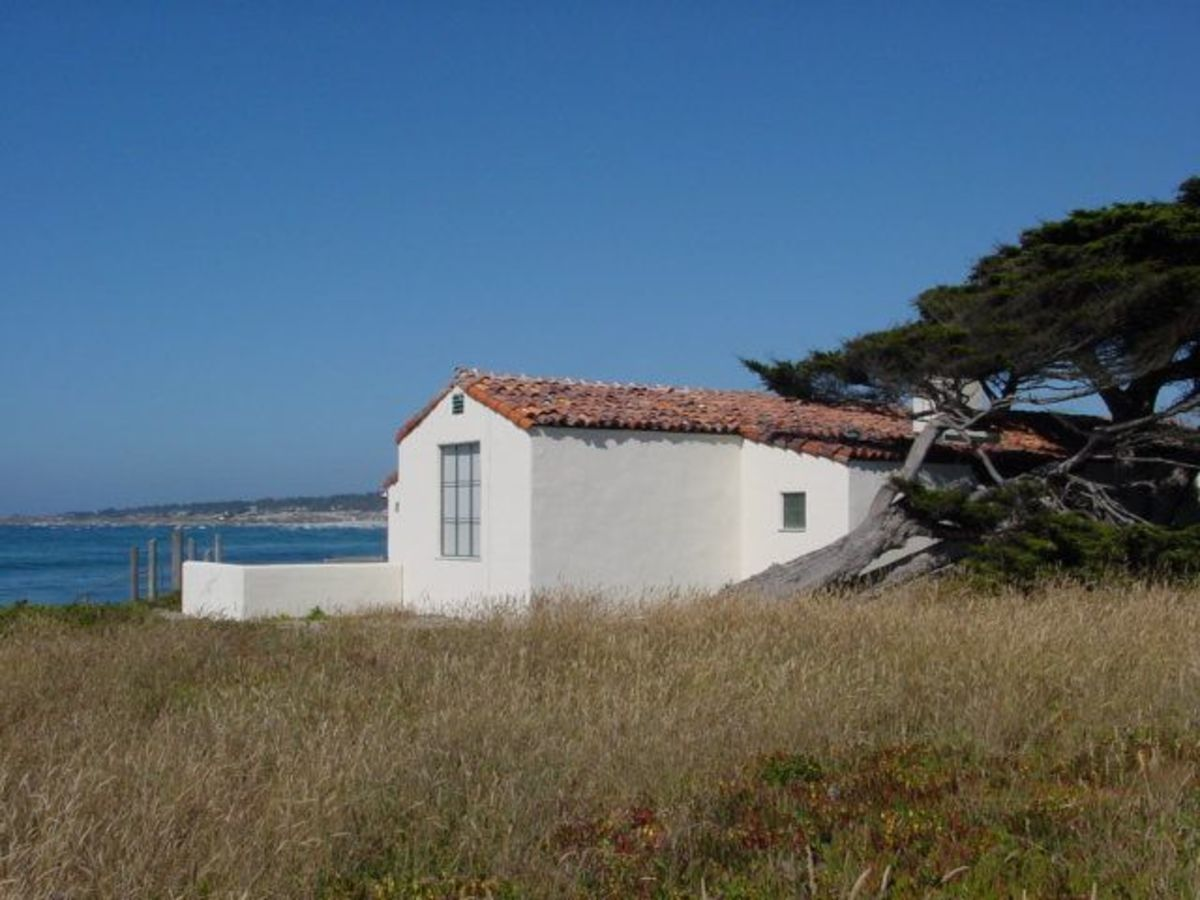 White cottage in Pebble Beach