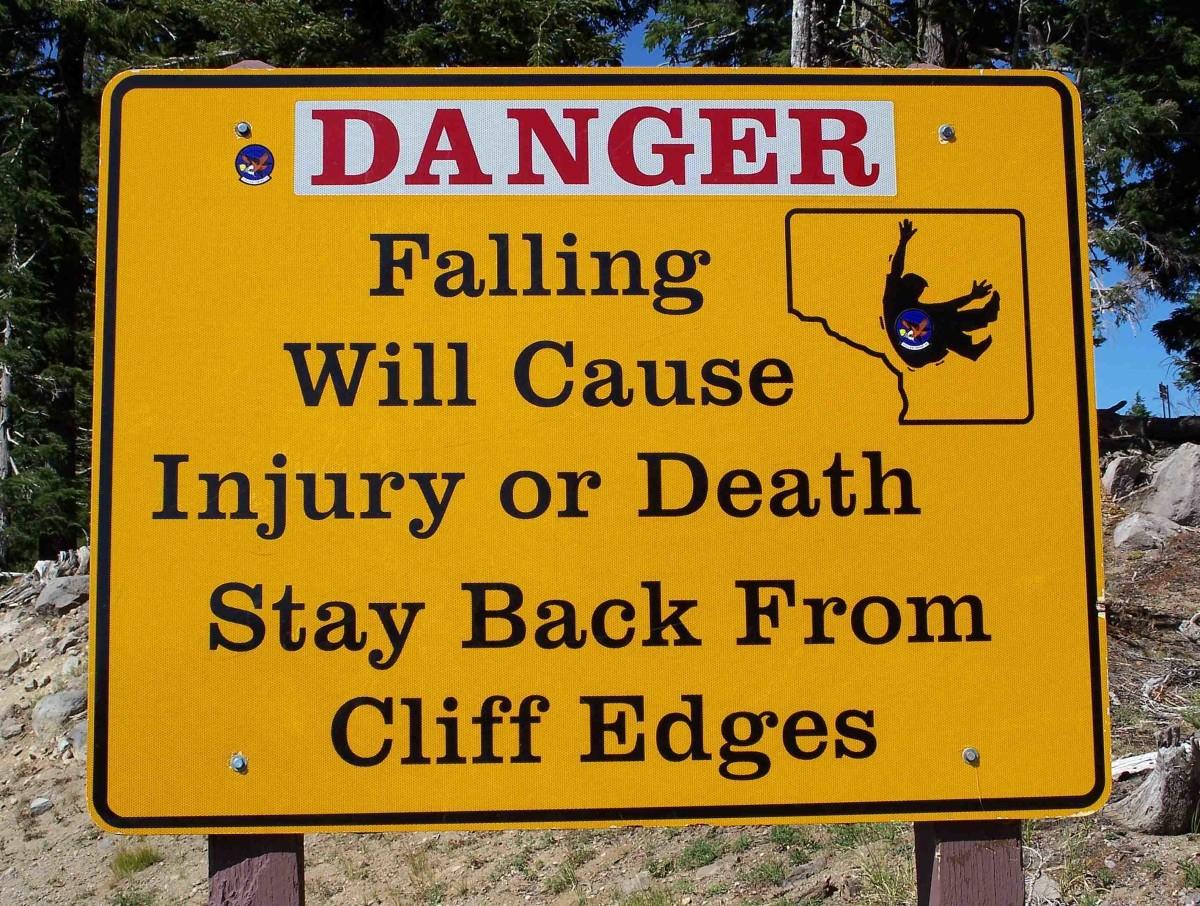Amazingly, people do not heed warnings like this!