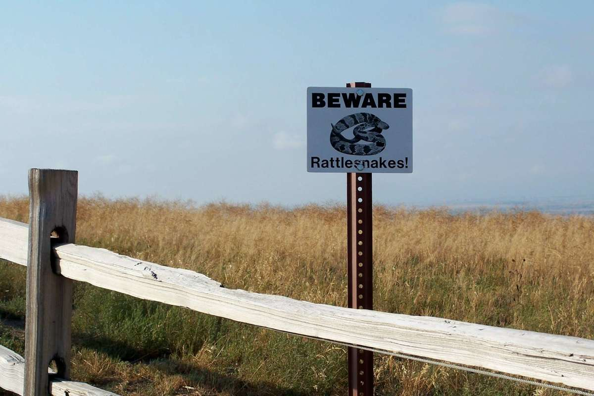 Beware of Rattlesmake signs are often seen in National Parks in the western states.
