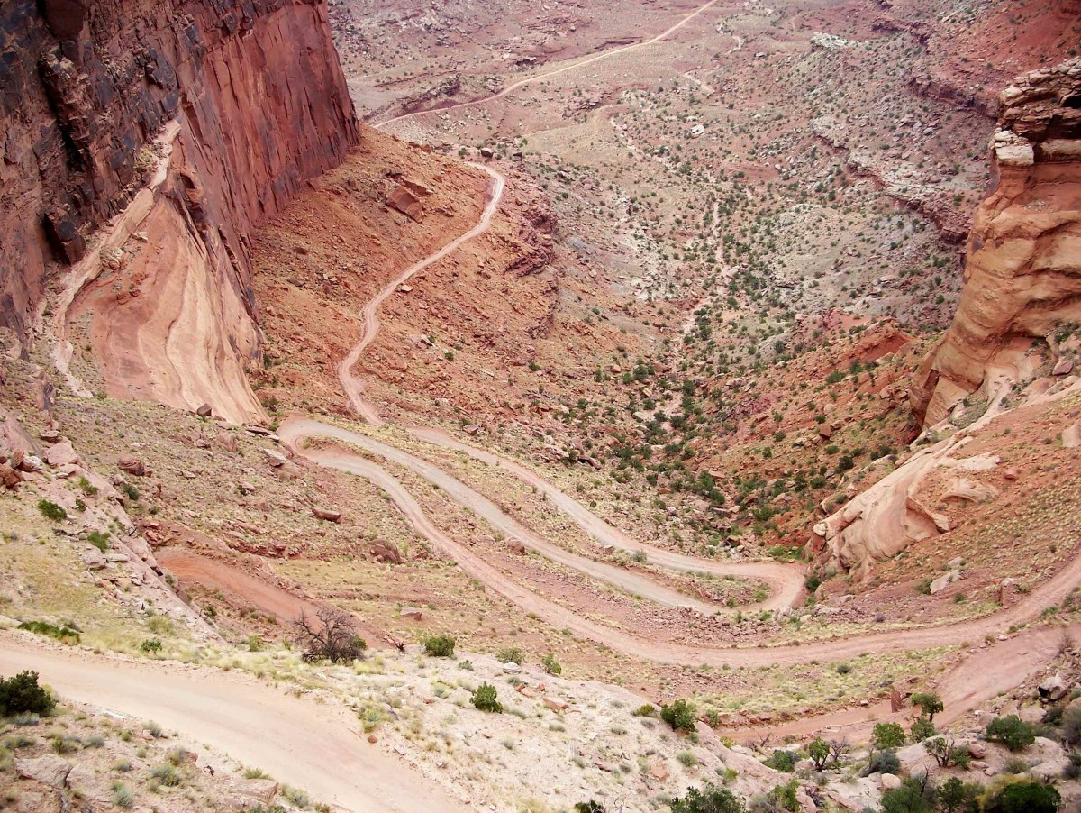 Schaffer Trail Road in Canyonlands National Park is  not for the fainthearted!