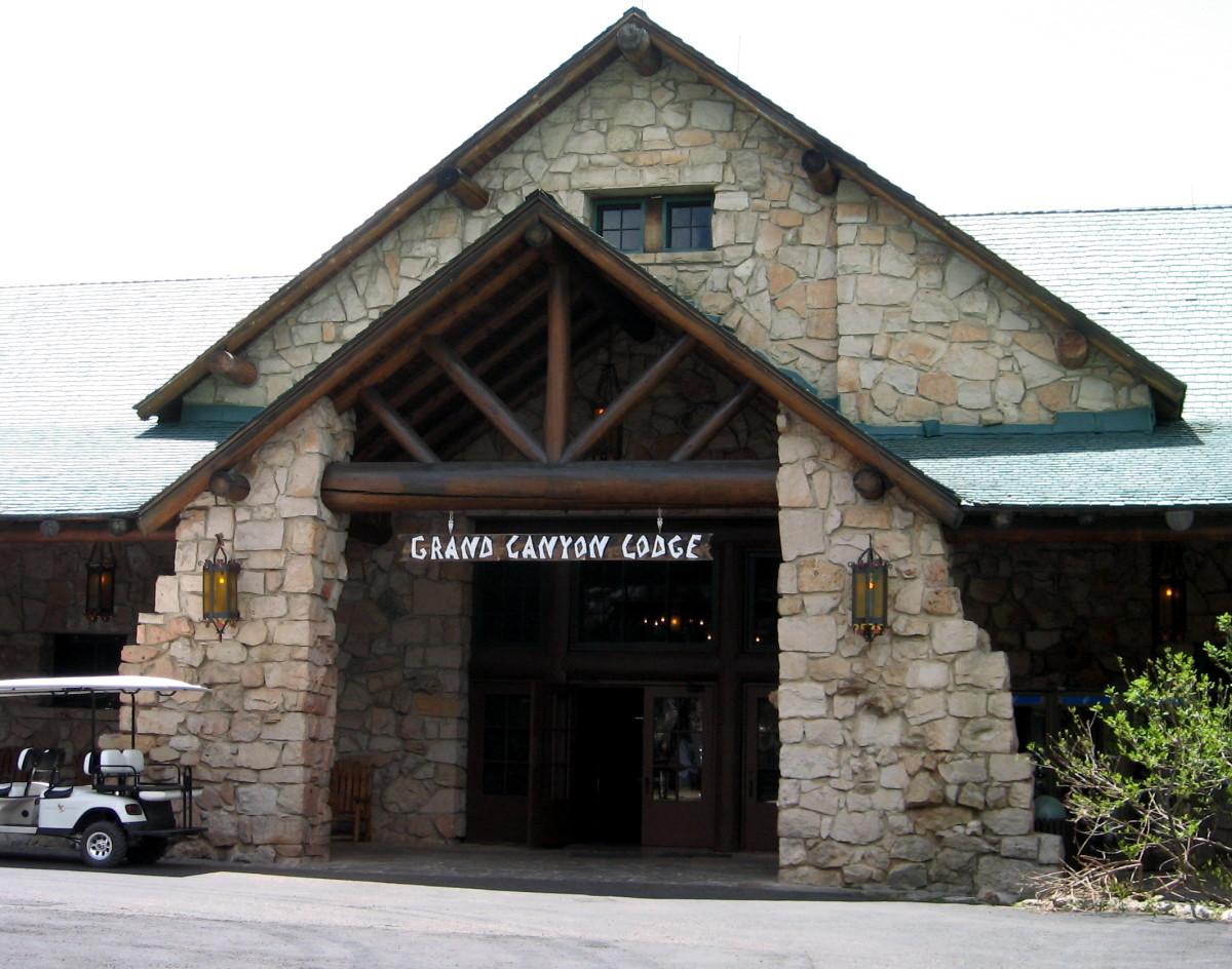 Grand Canyon Lodge (North Rim) main entrance.