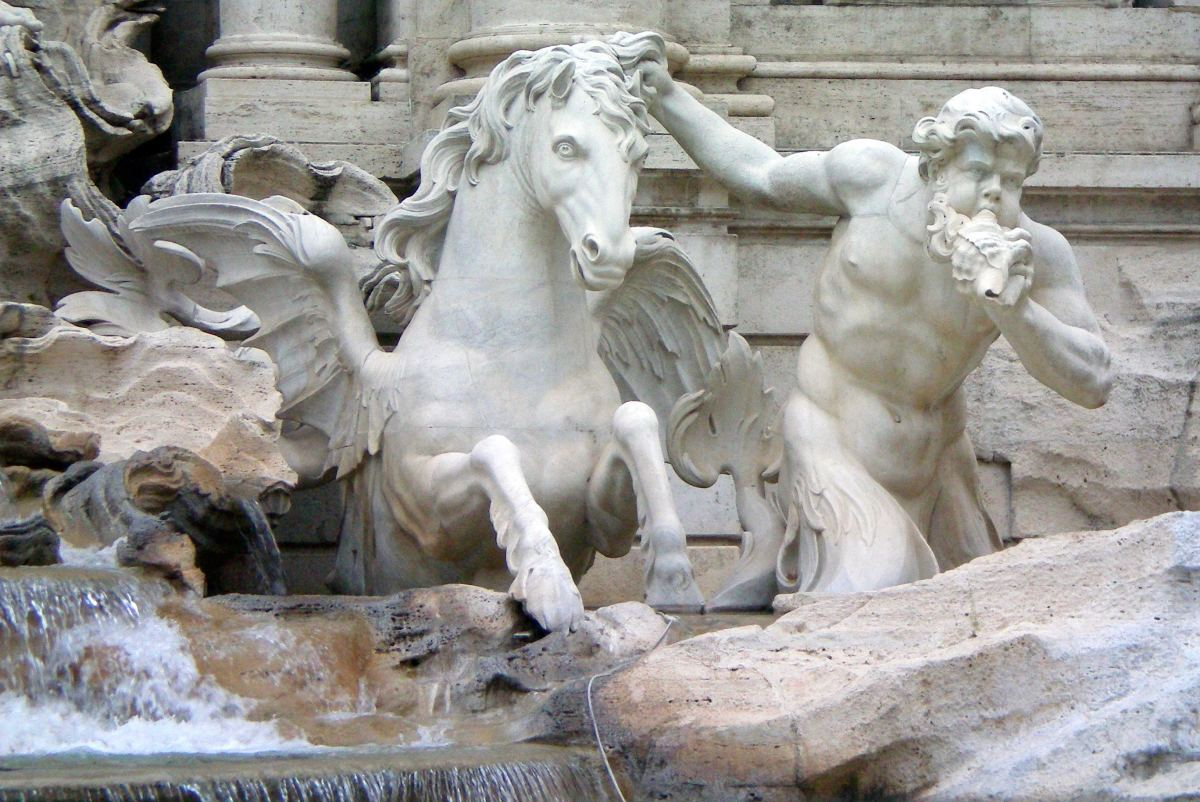 Detail of the Trevi Fountain, Rome (c) A. Harrison