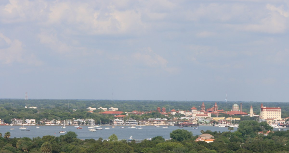View of St. Augustine from the top of the lighthouse.