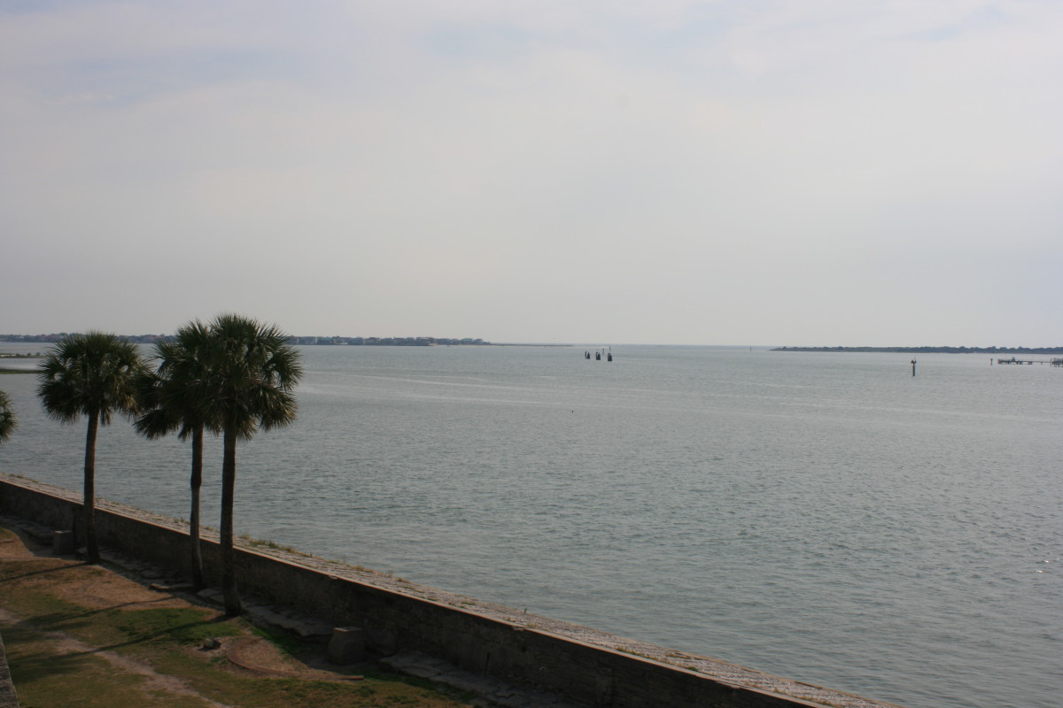 A view of the lovely Matanzas Bay from the top of the Castillo de San Marcos.