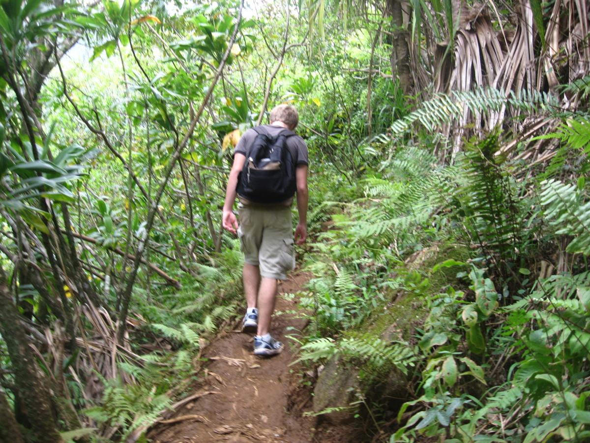 a weary hiker