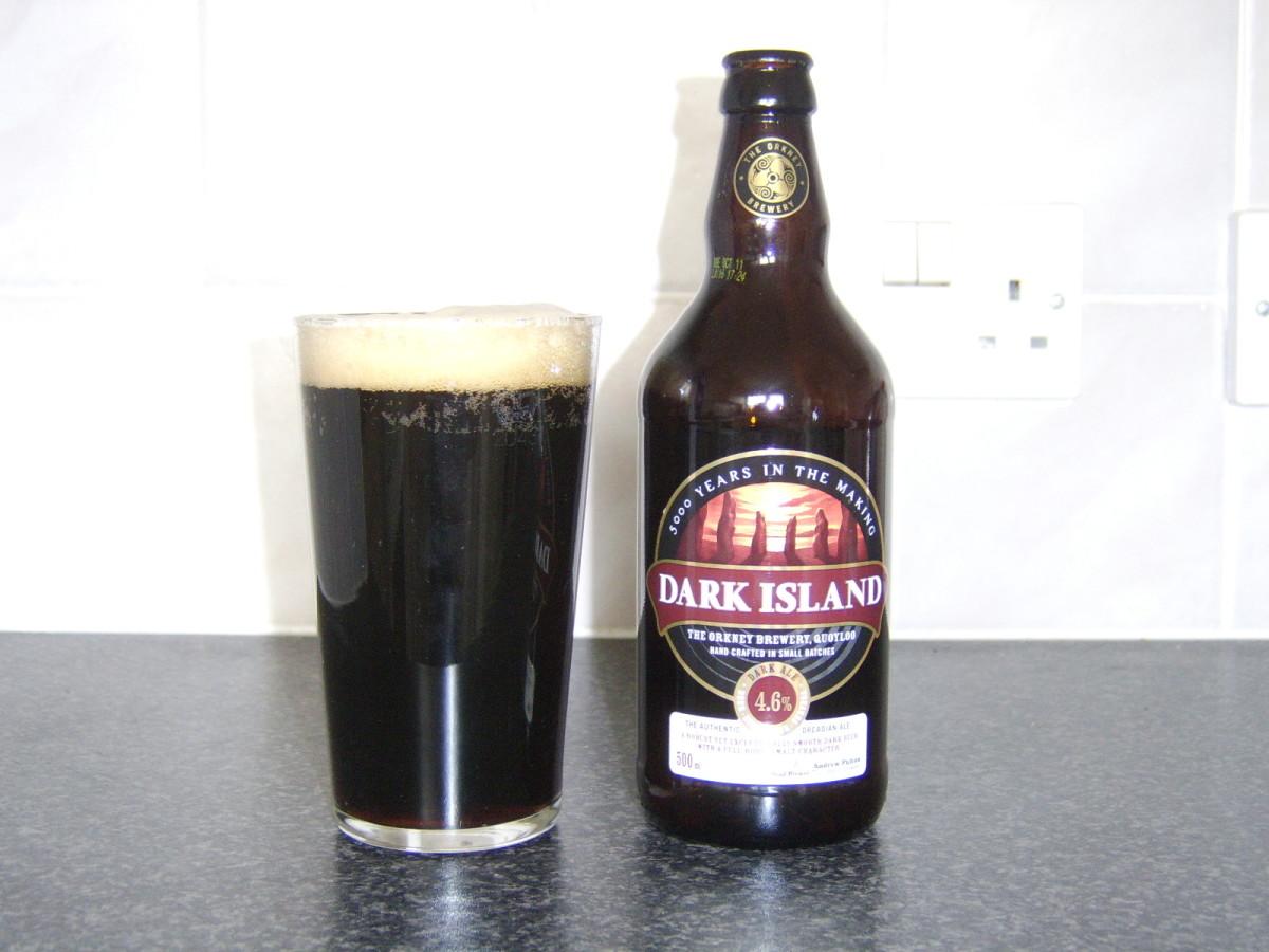 Pint of Orkney Dark Island Ale