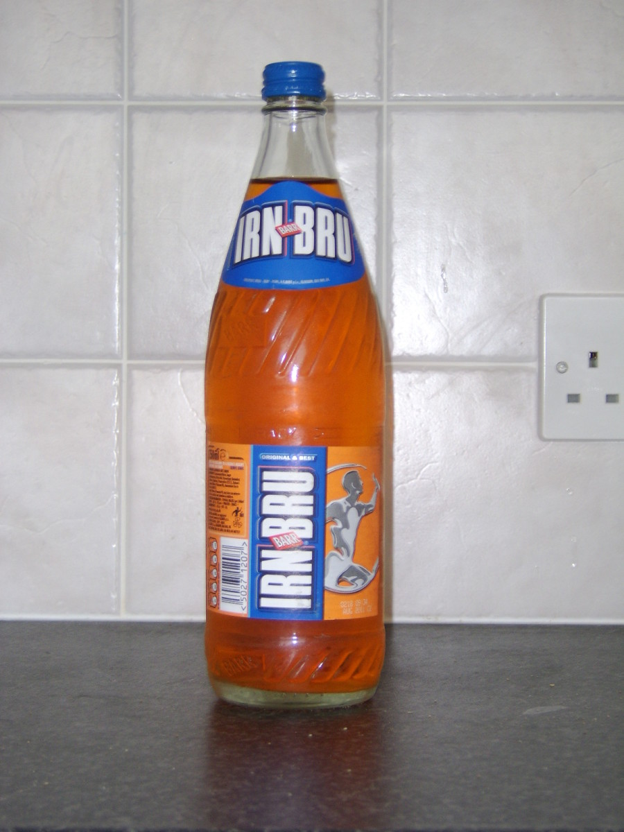 Bottle of Barrs' Irn Bru