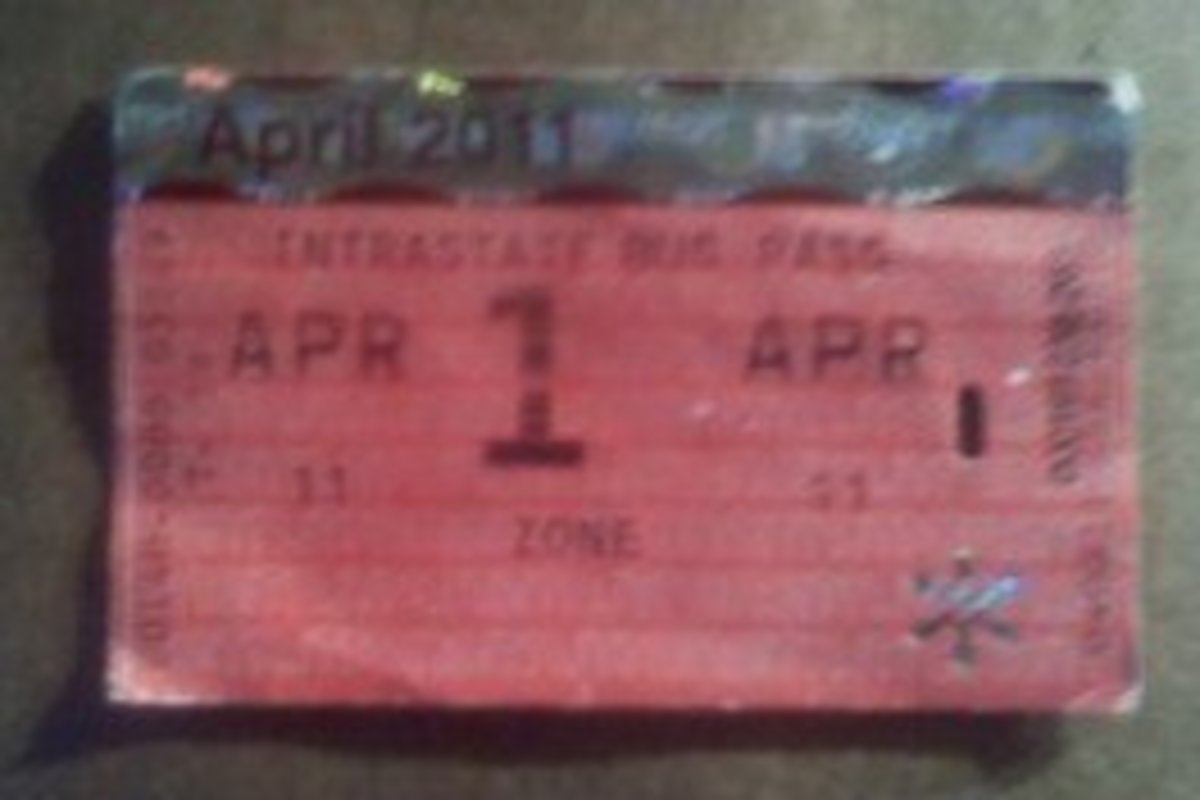 Front view of NJT monthly bus pass