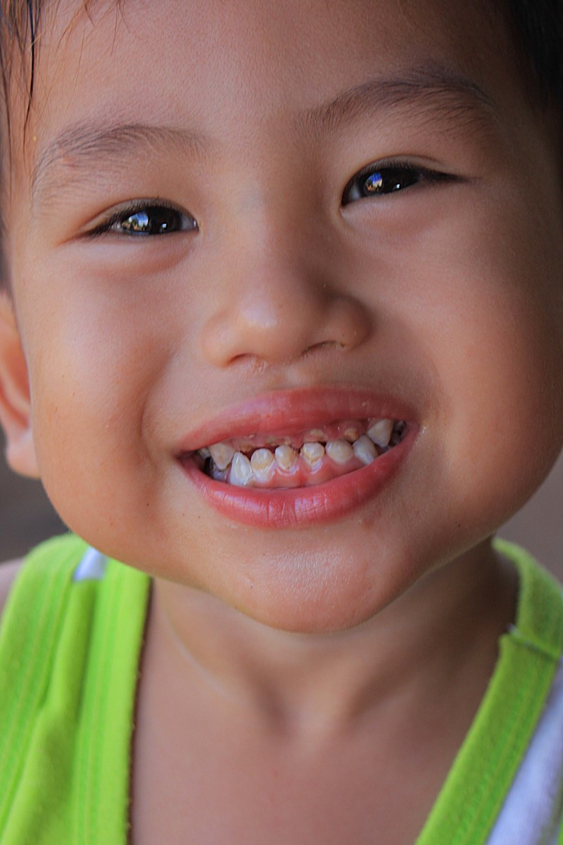A little boy shows why the nation of Thailand is sometimes known as the 'Land of Smiles'